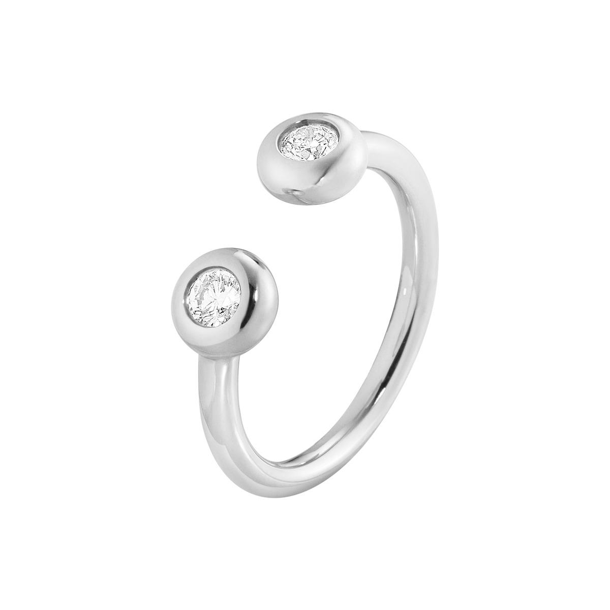 georg jensen - smykker – Georg jensen aurora ring - 3572580 hvg / 0,20 ct 52 på brodersen + kobborg