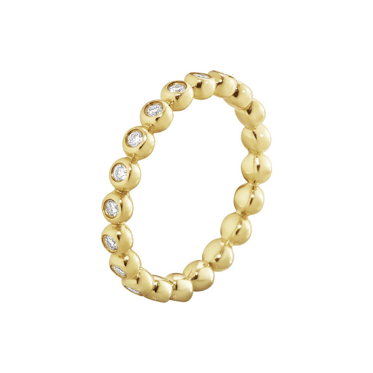 Georg Jensen AURORA ring - 3572620 18 kt / ialt 0,33 ct 56