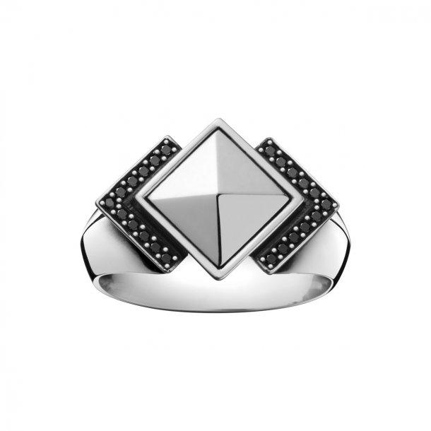 Georg Jensen NOCTURNE Ring med sort diamant - 3559720
