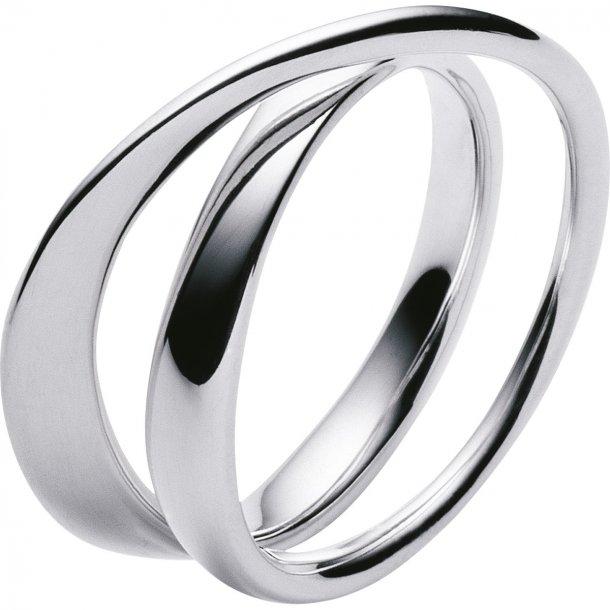Georg Jensen sølv MÖBIUS ring - 3552340
