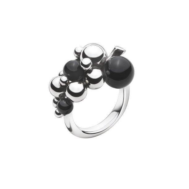 Georg Jensen MOONLIGHT GRAPES ring med onyx - 3559060