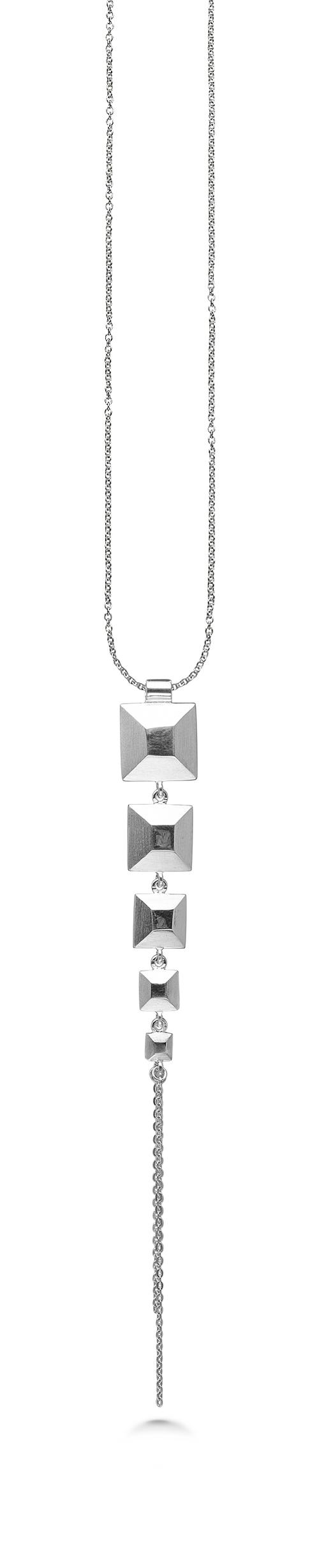 Kranz & Ziegler Sølv halssmykke squares - 4003791-45