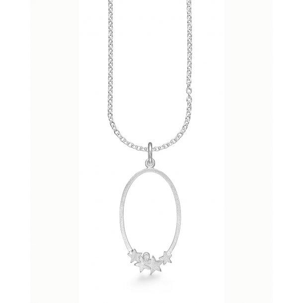 Kranz & Ziegler Sølv vedhæng med kæde - 4203506-45