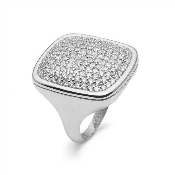 Kranz & Ziegler Rhodineret sølv ring med zirkonia - 6205844