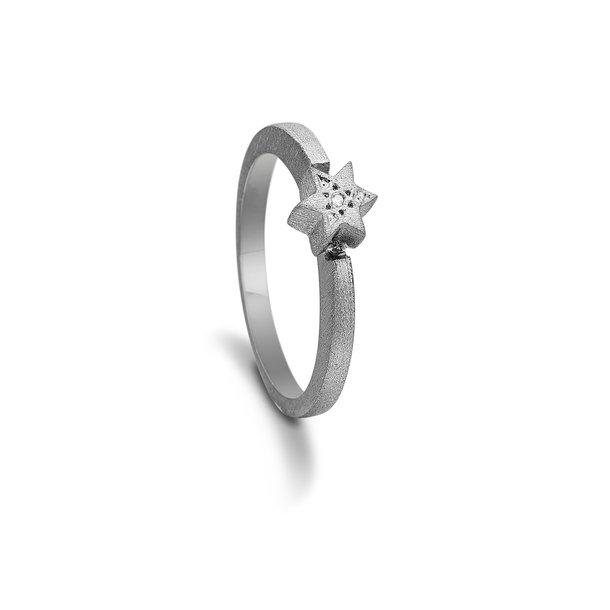 Kranz & Ziegler sort sølv ring - 6205866