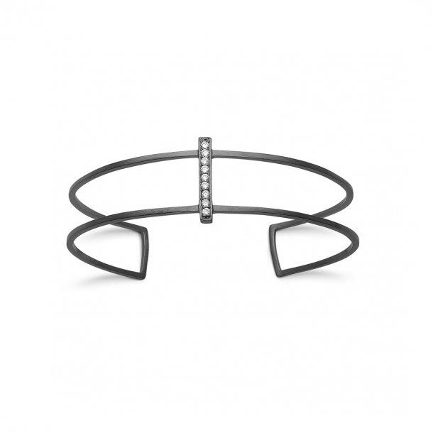 Kranz & Ziegler Sort sølv armring - 6210726