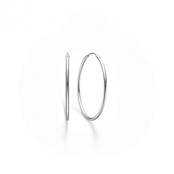 Mads Z sølv creol 35mm - 8110523