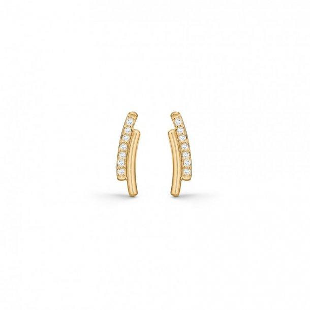 14 kr ørestikker med brillant Curve - 1511011