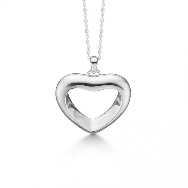 Sølv hjerte med kæde Affection - 2120017