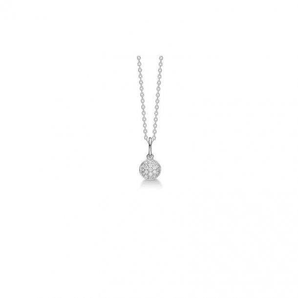 Sølv vedhæng Dome med brillant - 2121010