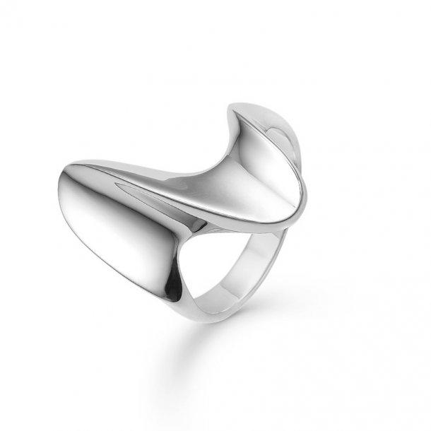 Sølv ring Big Wave - 2140030