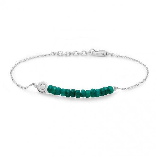 Sølv armbånd med smaragder - 2154013