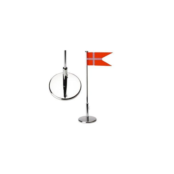 Sølvplet Flagstang 40 cm - 150-87022