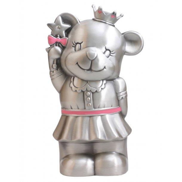 Fortinnet sparebøsse prinsesse bamse pige - 152-76207