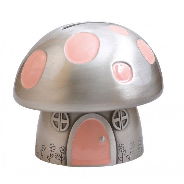Fortinnet Sparebøsse Padehat m/ lyserød emalje - 152-76209