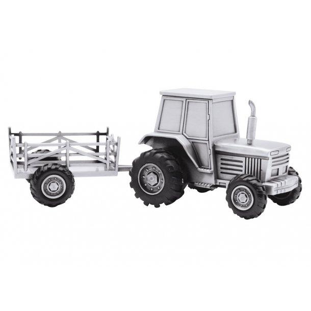 Fortinnet sparebøsse traktor med vogn - 152-76904