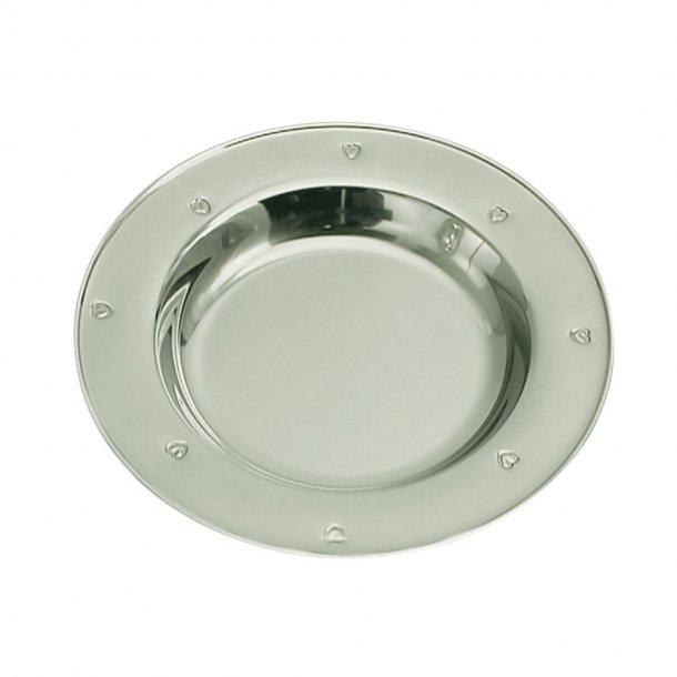 Rustfri stål tallerken Hjerte - 257-88035