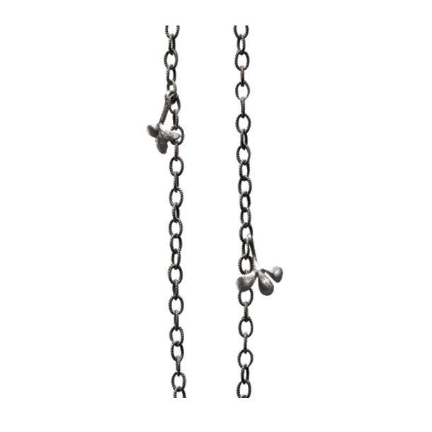 Ole Lynggaard snoet oxyderet sølv kæde - mellem - C2009-302
