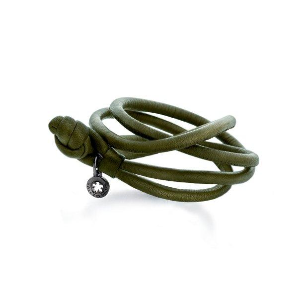Ole Lynggaard Army læderarmbånd - A2519-010