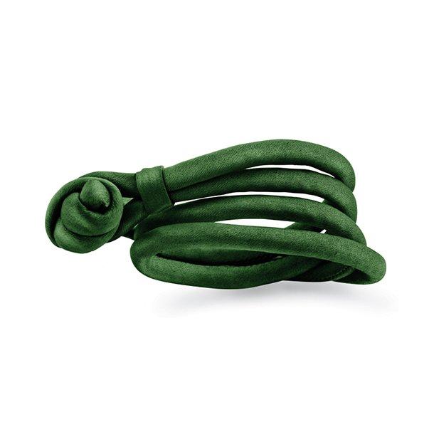 Ole Lynggaard Smaragd grønt silkearmbånd - A2536
