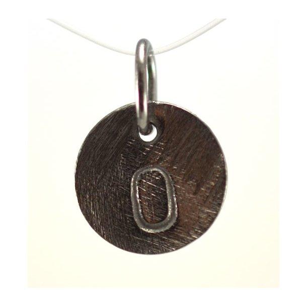 Oxideret sølv vedhæng med bogstav - 1511-3-O