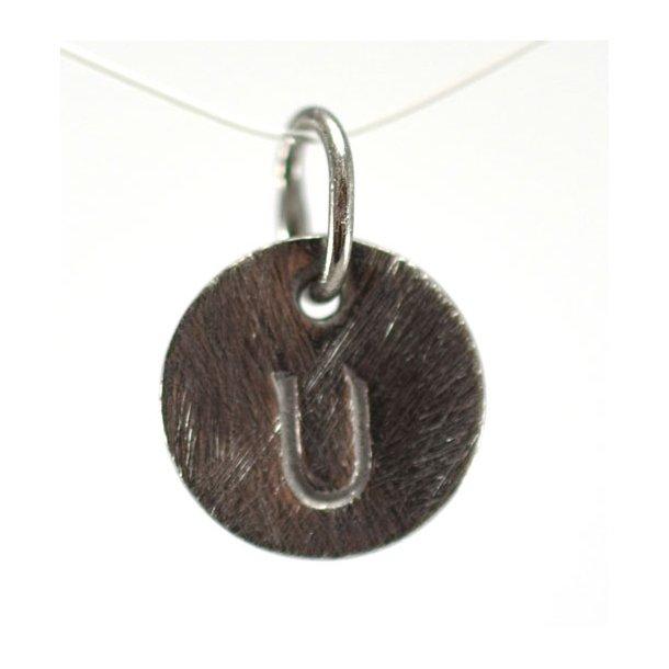Oxideret sølv vedhæng med bogstav - 1511-3-U