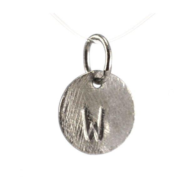 Oxideret sølv vedhæng med bogstav - 1511-3-W