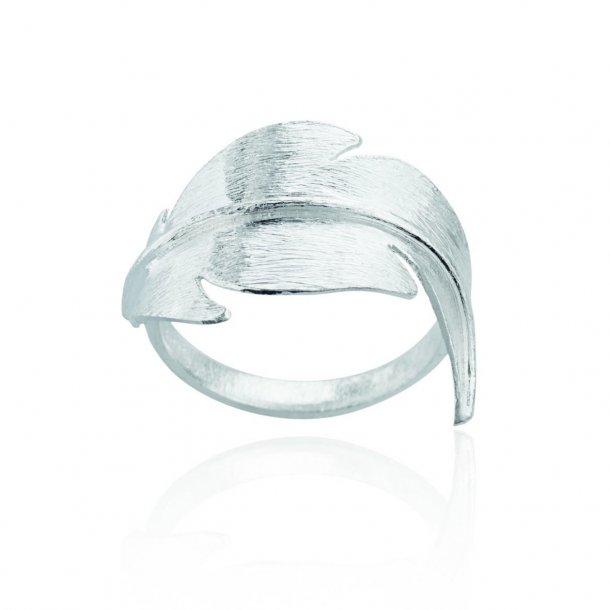Sølv ring med fjer - 1654-1