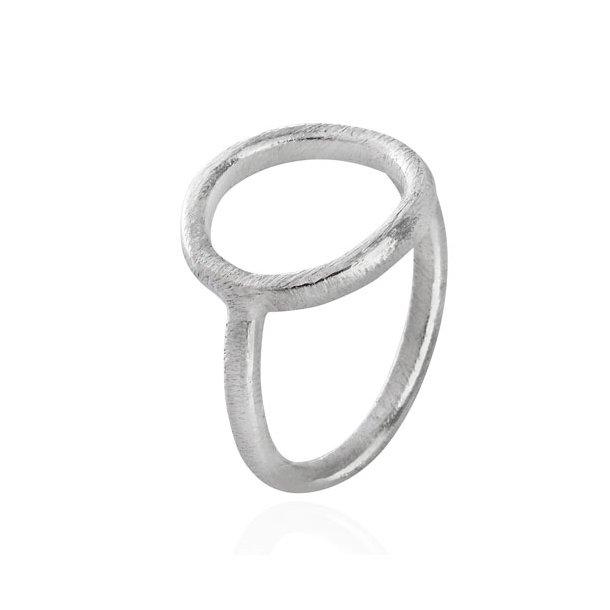 Sølv ring med cirkel - 1663-1