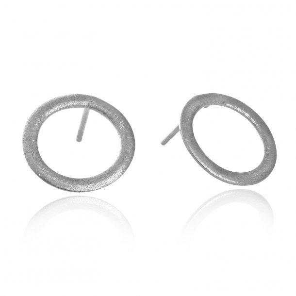 12 mm cirkel ørestikker i sølv - 5301-1