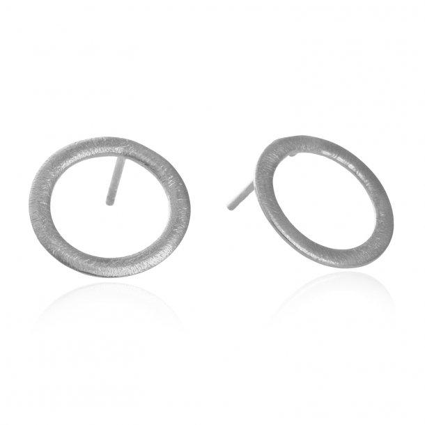 15 mm cirkel ørestikker i sølv - 5302-1