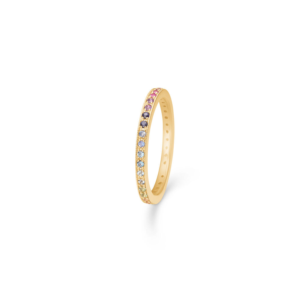 Mads Z Poetry Rainbow 14 kt. ring - 1544061 Rainbow 56