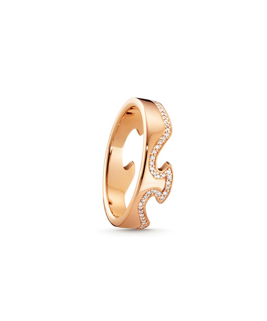 Georg Jensen Fusion ring - 3570880 0,18 ct / rosa 54