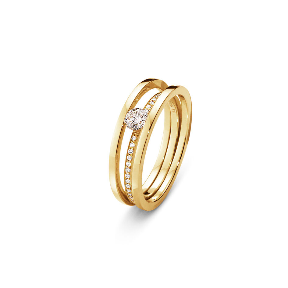 Georg Jensen Halo Solitaire ring - 10014100 54